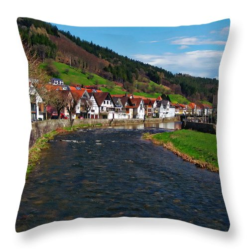 Germany Throw Pillow featuring the photograph Kinzig River by Anthony Dezenzio