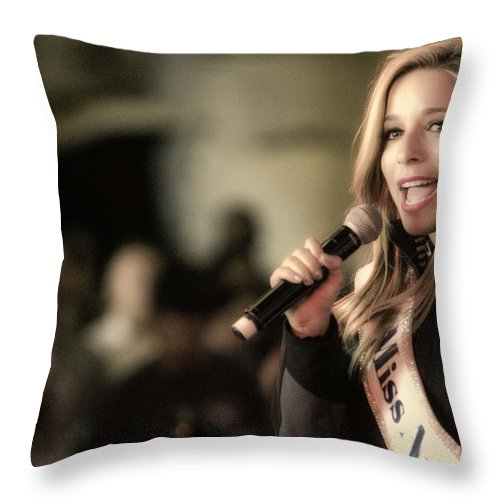 Abstract Throw Pillow featuring the photograph Kira Kazantsev by John Swartz