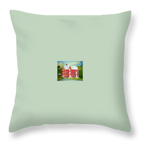 Kirby Mill Throw Pillow featuring the painting Kirby's Mil by Sheila Mashaw