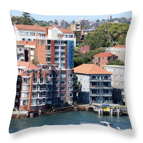 District Throw Pillow featuring the photograph Kirribilli Skyscrapers by Ramunas Bruzas