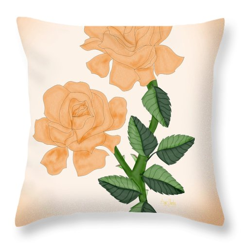 Rose Throw Pillow featuring the painting Kiss From A Rose by Anne Norskog