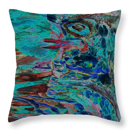 Eye Throw Pillow featuring the mixed media Kiss Me Baby by Sue Duda