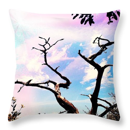Shannon Throw Pillow featuring the photograph Kiss Of Spring Hues by Shannon Sears