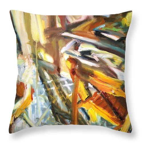 Dornberg Throw Pillow featuring the painting Kitchen Corner by Bob Dornberg
