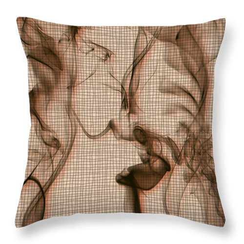Clay Throw Pillow featuring the digital art Kitchen Problems by Clayton Bruster