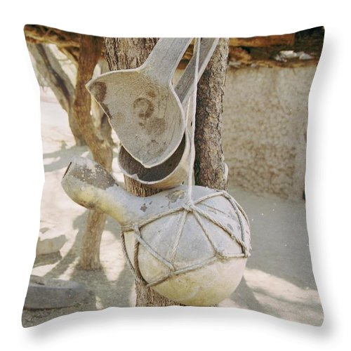 Tumacacori Throw Pillow featuring the photograph Kitchen Utensils by Kathy McClure