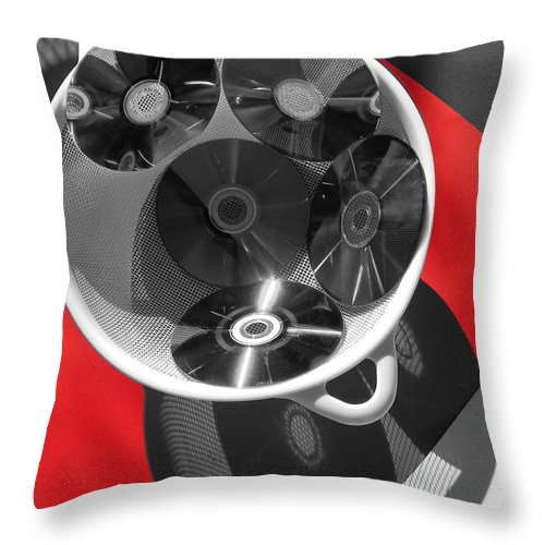 Cd Throw Pillow featuring the photograph Kitchen Ware by Evguenia Men