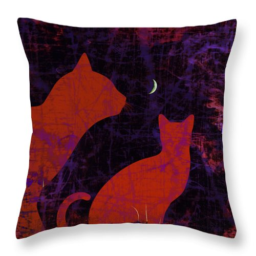 Kitty Kitty Throw Pillow featuring the digital art Kitty Kitty by Darin Baker