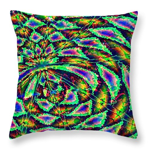 Computer Art Throw Pillow featuring the digital art Kiwi by Dave Martsolf