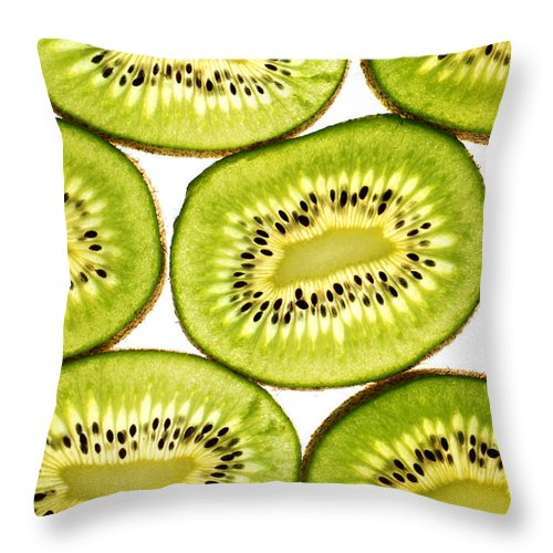 Close Throw Pillow featuring the photograph Kiwi Fruit II by Paul Ge