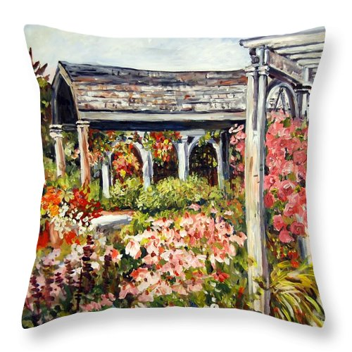 Landscape Throw Pillow featuring the painting Klehm Arboretum I by Alexandra Maria Ethlyn Cheshire