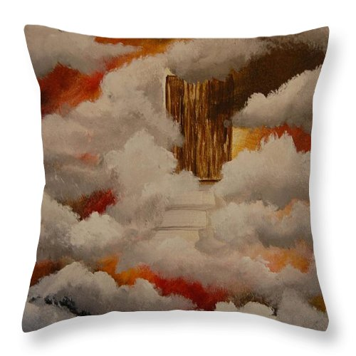 Acrylic Artwork Throw Pillow featuring the painting Knock And The Door Will Open by Laurie Kidd