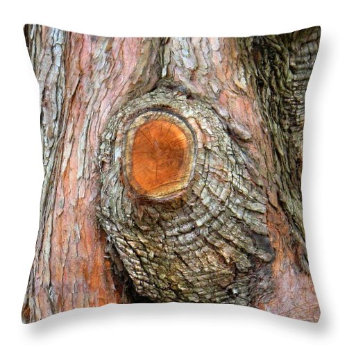 Tree Throw Pillow featuring the photograph Knot by Ian MacDonald