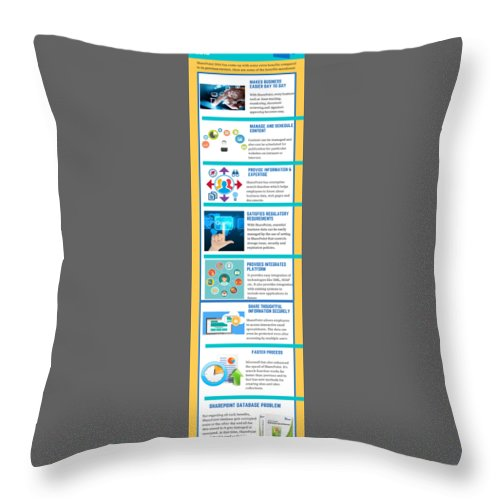 Sharepoint 2016 Throw Pillow featuring the digital art Know About The Benefits Of Using Microsoft Sharepoint 201 by Edwards Paul