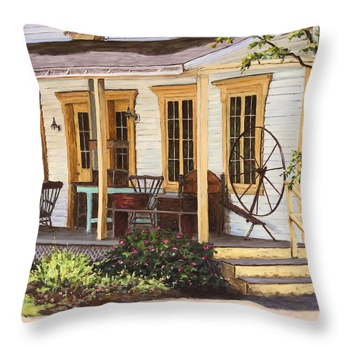 Urban Throw Pillow featuring the painting Knowlton Lac Brome by Richard T Pranke