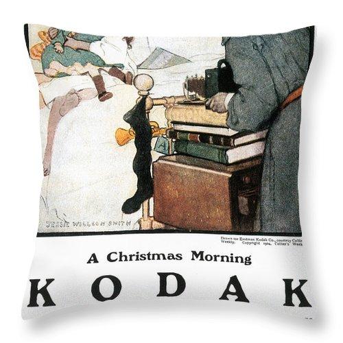 1904 Throw Pillow featuring the photograph Kodak Advertisement, 1904 by Granger