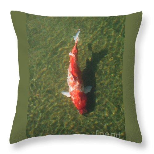 Koi Throw Pillow featuring the photograph Koi by Dean Triolo