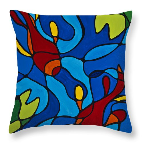 Koi fish throw pillow for sale by sharon cummings for Koi fish pillow