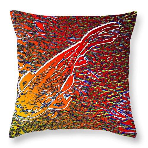 Koi Throw Pillow featuring the digital art Koi Pond by Tim Allen