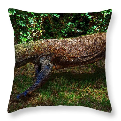Art Throw Pillow featuring the painting Komodo by David Lee Thompson