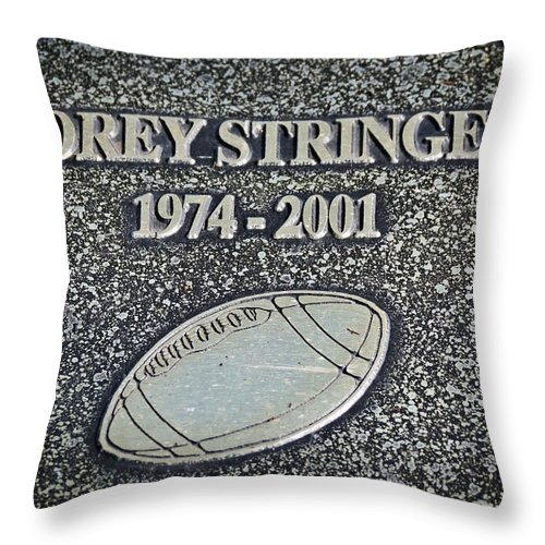 Nfl Throw Pillow featuring the photograph Korey Stringer Tribute by Kyle West