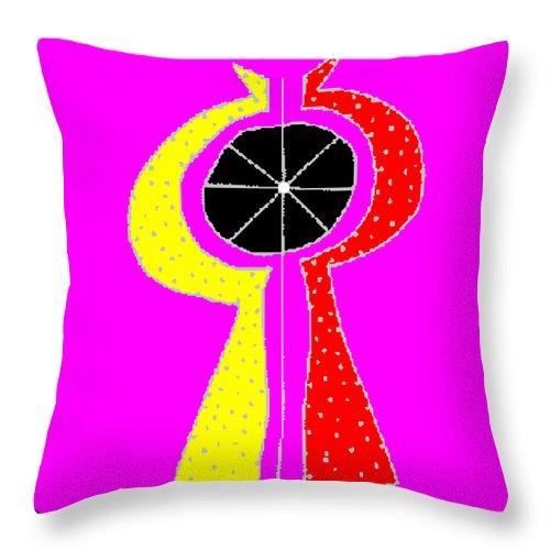 Square Throw Pillow featuring the digital art Kosmikon by Eikoni Images