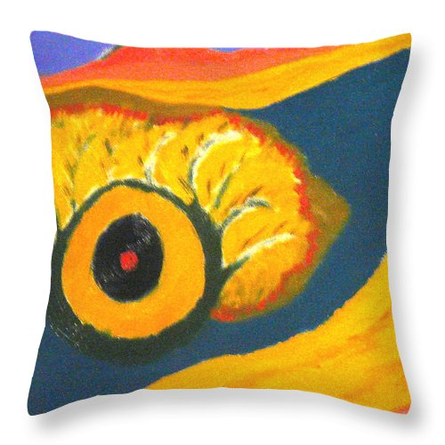 Throw Pillow featuring the painting Krshna by R B
