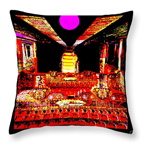 Square Throw Pillow featuring the digital art Kubla by Eikoni Images