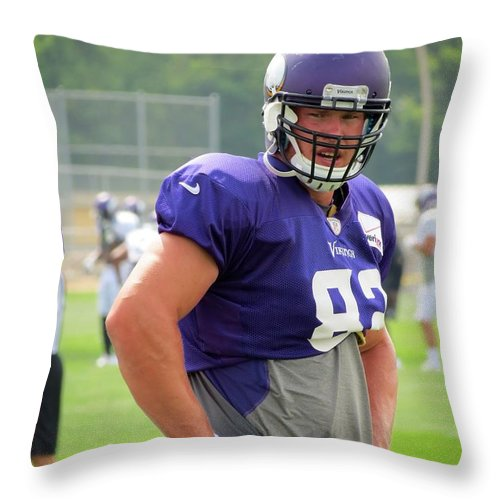 Nfl Throw Pillow featuring the photograph Kyle Rudolph by Kyle West