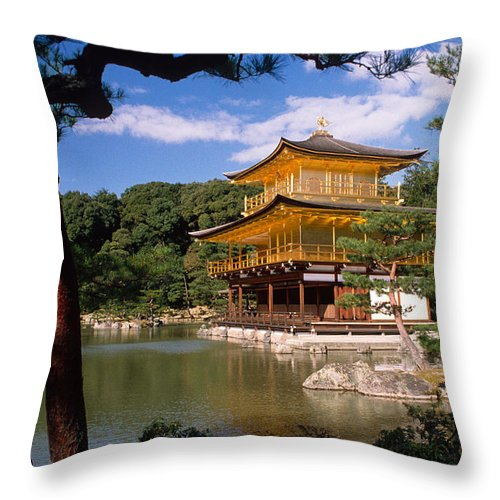 Asia Throw Pillow featuring the photograph Kyoto by Michele Burgess