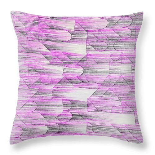 Rithmart Throw Pillow featuring the digital art l14-F900F6-3x3-1500x1500 by Gareth Lewis