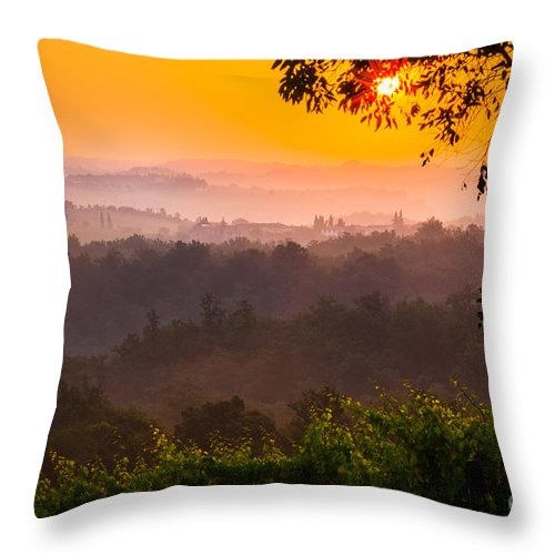 Europe Throw Pillow featuring the photograph La Bella Toscana by Inge Johnsson