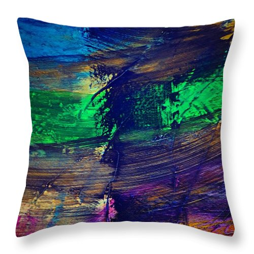 Abstract Throw Pillow featuring the painting La Colere by Valerie Dauce