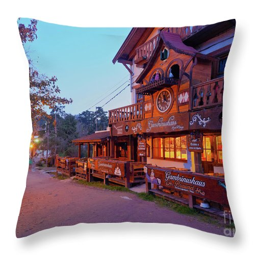 South America Throw Pillow featuring the photograph La Cumbrecita, Argentina by Karol Kozlowski