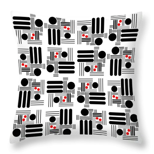 Abstract Throw Pillow featuring the digital art L A Hot Spots by Lois Boyce