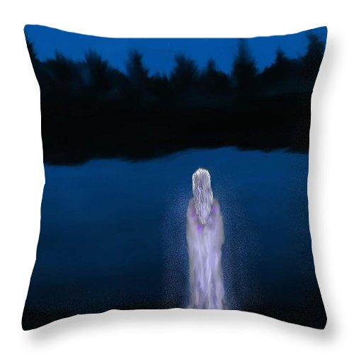 Lanscapes Throw Pillow featuring the painting La Llorona by Abel Padilla