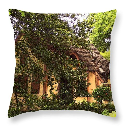Cottage Throw Pillow featuring the photograph La Maison by Debbi Granruth