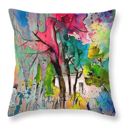 Impressionism Throw Pillow featuring the painting La Provence 17 by Miki De Goodaboom