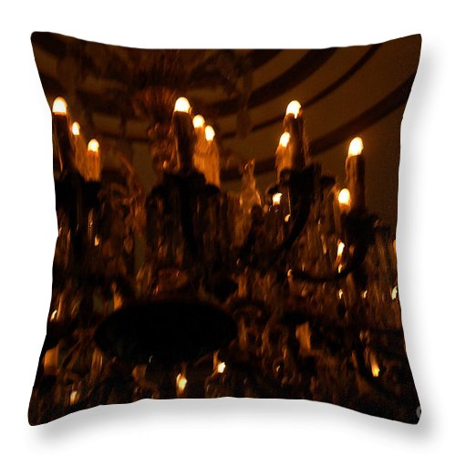 Light Throw Pillow featuring the photograph La Salle D'attente by Linda Shafer