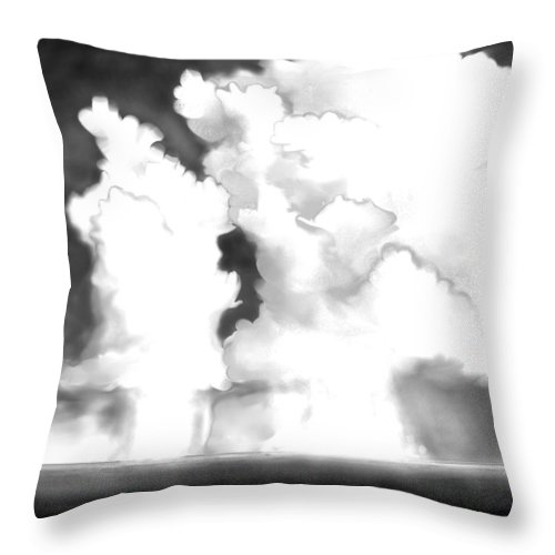 Labor Day Throw Pillow featuring the digital art Labor Day by Kerry Beverly