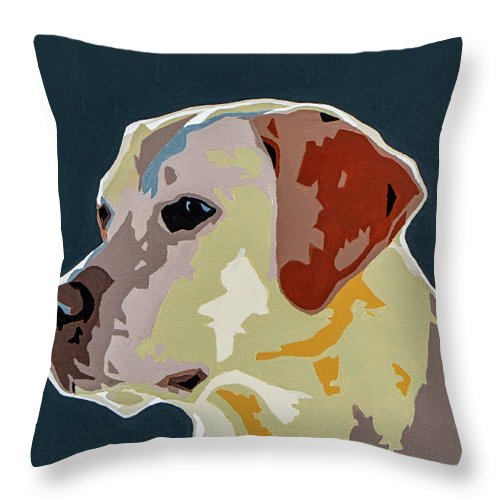 Labrador Throw Pillow featuring the painting Labrador by Slade Roberts