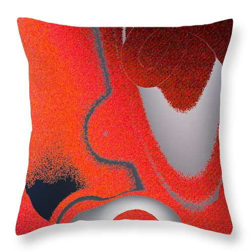 Abstract Throw Pillow featuring the digital art Labremains by Pharris Art