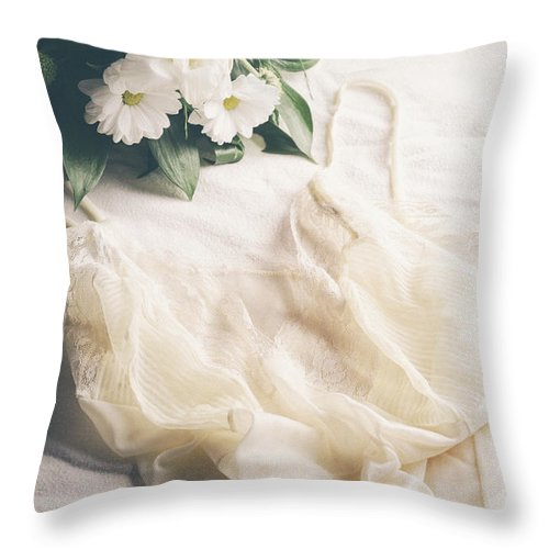 Underwear Throw Pillow featuring the photograph Laced Underwear by Jelena Jovanovic