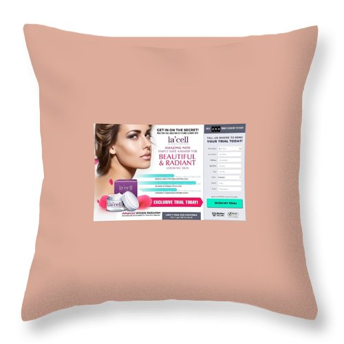 Lacell Throw Pillow featuring the ceramic art Lacell by Lacell