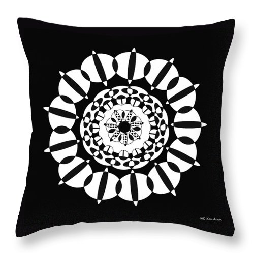 Black And White Throw Pillow featuring the digital art Lacy by ME Kozdron