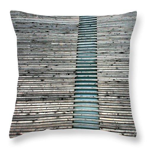 Zen Throw Pillow featuring the photograph Ladder To Zen by David Dunham
