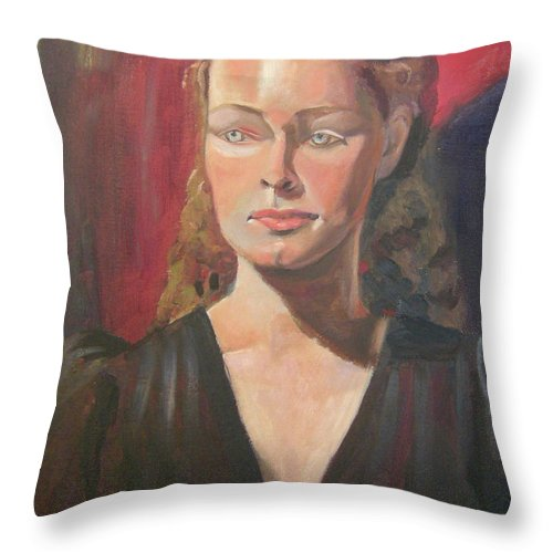 Portrait Throw Pillow featuring the painting Lady Ann by Lilibeth Andre