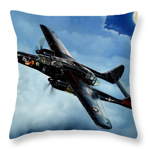 Military Throw Pillow featuring the painting Lady In The Dark by Marc Stewart
