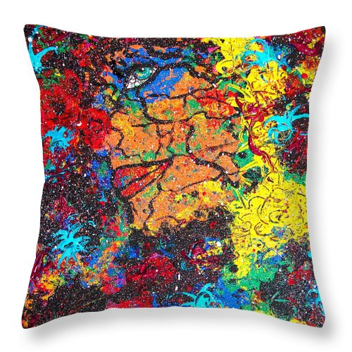 Woman Throw Pillow featuring the painting Lady Of Mystery by Natalie Holland