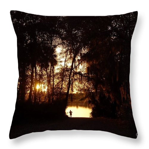 Lake Throw Pillow featuring the photograph Lady Of The Lake by David Lee Thompson